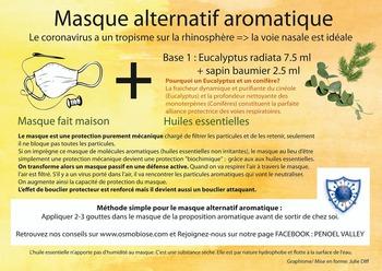 En masque aromatique : Sapin baumier + Eucalyptus radiata